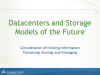 Datacenters and Storage Models of the Future