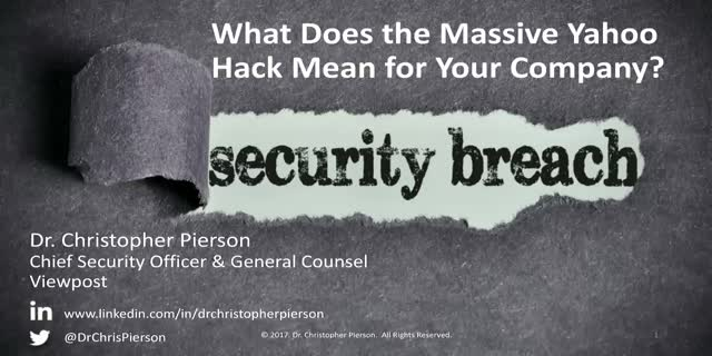 What Does the Massive Yahoo Hack Mean for Your Company?