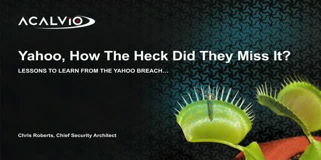 How the Heck Did They Miss It? Lessons to Learn from the Yahoo Breach