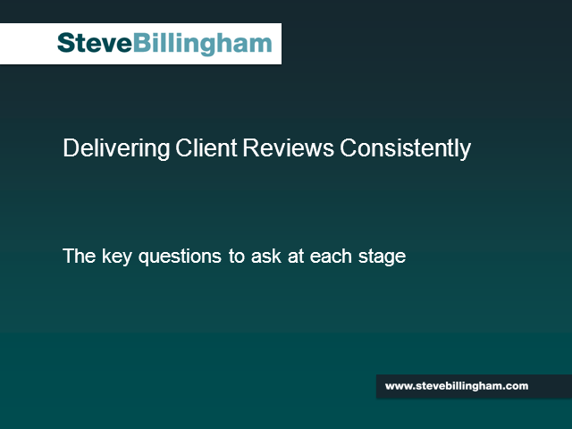Creating a Consistent Client Review Process
