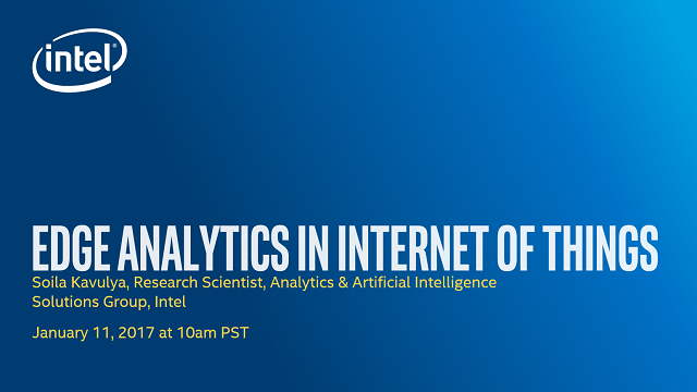 Edge Analytics in Internet of Things