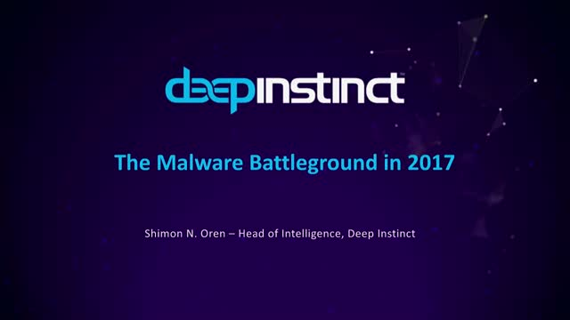 The Malware Battleground in 2017