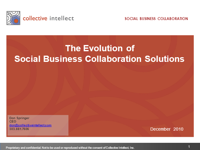 The Evolution of Social Business Collaboration Systems