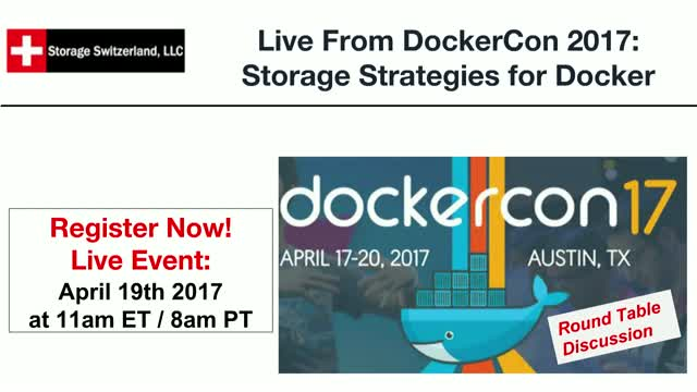 Live From DockerCon 2017: Storage Strategies for Docker - Panel Discussion