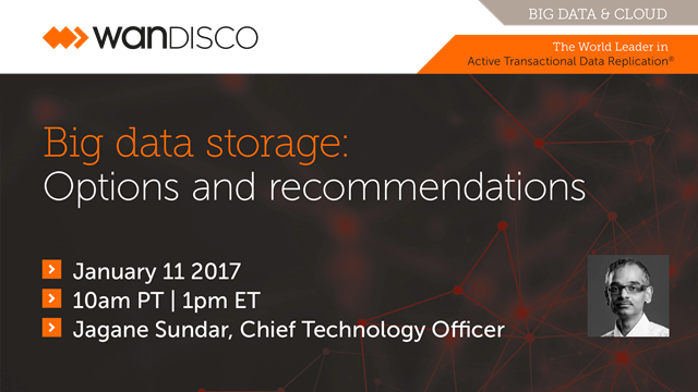 Big data storage: Options and recommendations