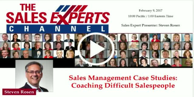 Sales Management Case Studies: Coaching Difficult Salespeople