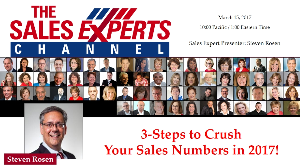 3-Steps to Crush Your Sales Numbers in 2017!