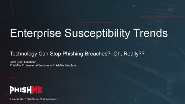 Technology Can Stop Phishing Breaches?  Oh, Really??