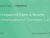 The Impact of Open & Honest Communication on Company Culture