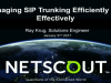 Managing SIP Trunking Environments Efficiently and Effectively in 2017