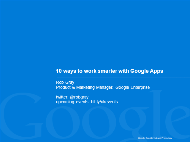 Snack Time Snippet: 10 ways to work smarter with Google Apps