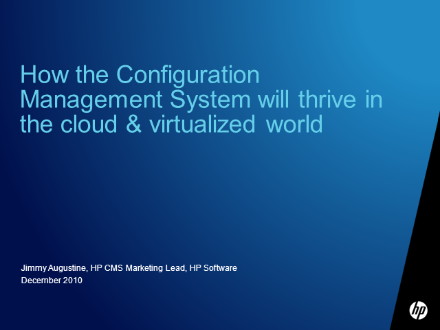 How CMS Will Thrive In the Cloud & Virtualized World
