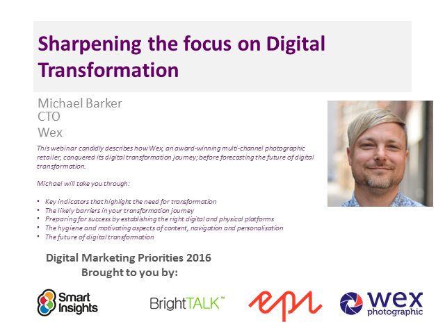 Sharpening the focus on digital transformation: a case study