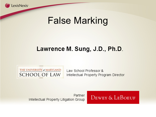 Fight the false marking fiasco