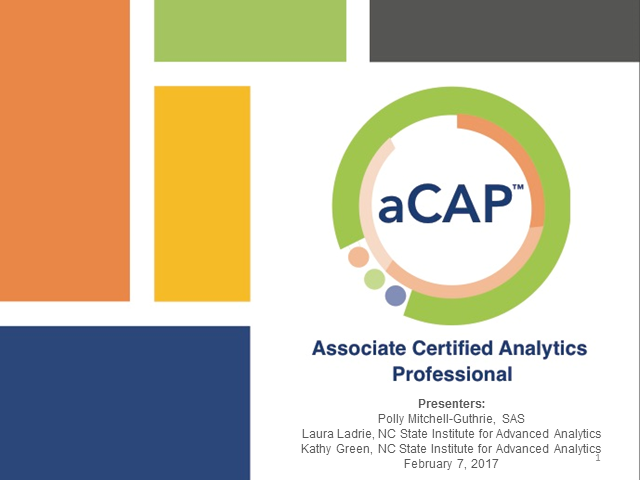INFORMS - Associate Certified Analytics Professional (CAP®) Overview