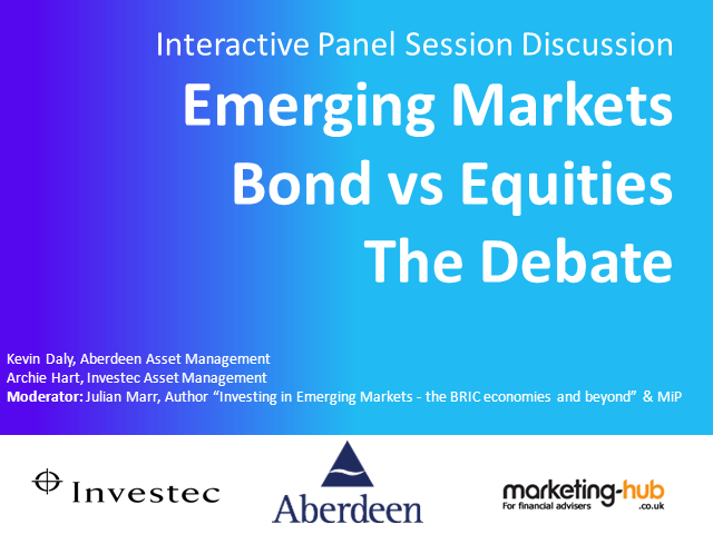 EM Bonds or Equities: The Debate