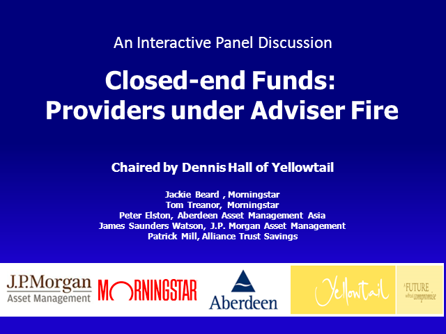 Closed-end Funds - Providers under Adviser Fire