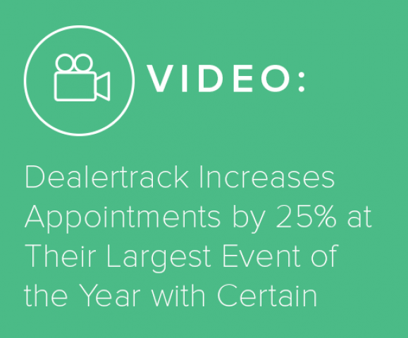 Dealertrack Increases Appointments by 25% at Their Largest Event of the Year