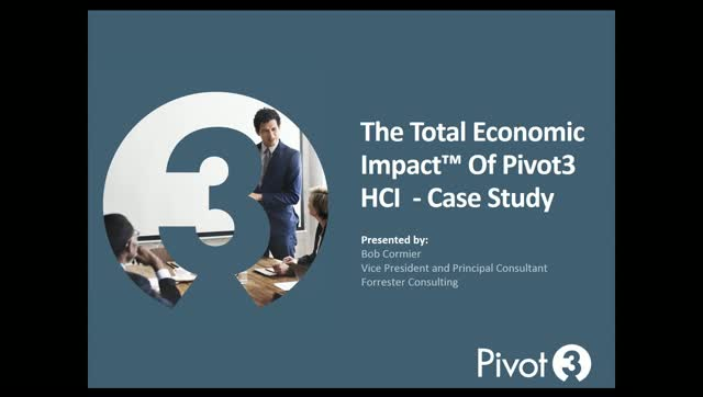 Forrester Study: Total Economic Impact of Pivot3 Hyperconverged Infrastructure