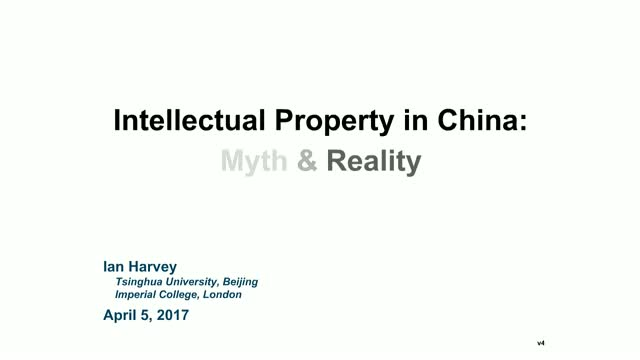 Intellectual Property in China: Myth and Reality