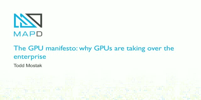The GPU Manifesto: Why GPUs Will Take Over The Enterprise