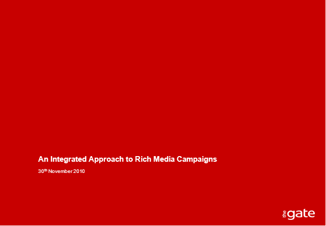 An Integrated Approach to Rich Media Campaigns