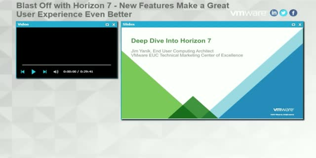 Blast Off with Horizon 7 - New Features Make a Great User Experience Even Better