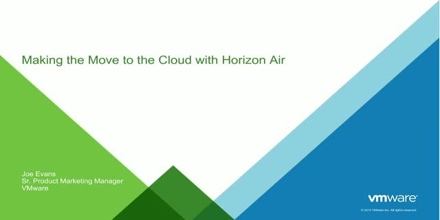 Making the Move to the Cloud with Horizon Air