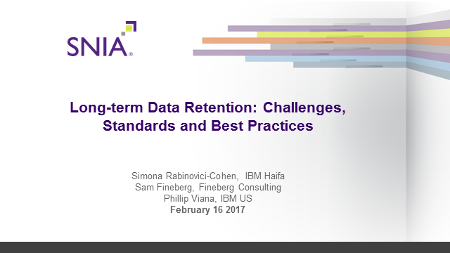 Long-term Data Retention: Challenges, Standards and Best Practices