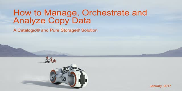 How to Manage, Orchestrate and Analyze Copy Data