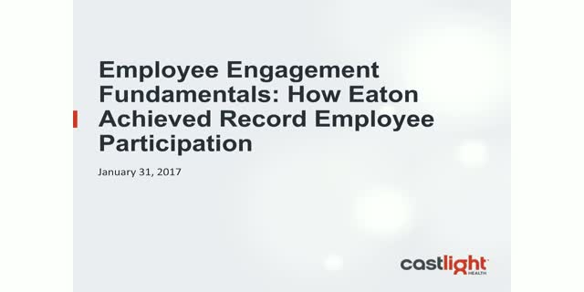 Employee Engagement: how Eaton achieved record employee participation