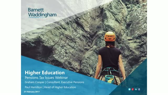 Higher Education: Pension taxation changes that will impact your staff