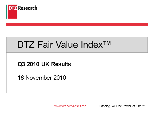 DTZ Fair Value Index™ - update with UK focus