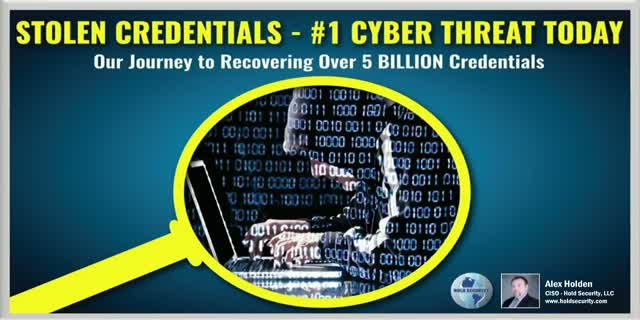 Stolen Credentials - #1 Cyber Threat Today