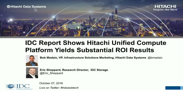 IDC Report: ROI Data Analysis of Converged Infrastructure