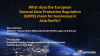What does the European GDPR mean for businesses in Asia Pacific?