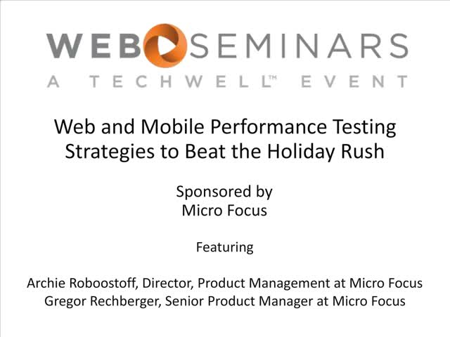 Web and Mobile Performance Testing Strategies to Beat the Holiday Rush
