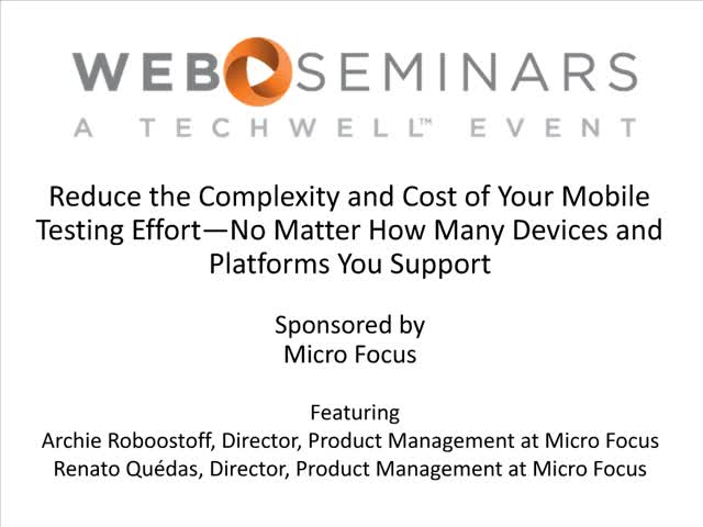 Reduce the Complexity and Cost of Your Mobile Testing Effort