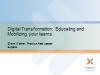 Digital Transformation: Educating and mobilizing your teams