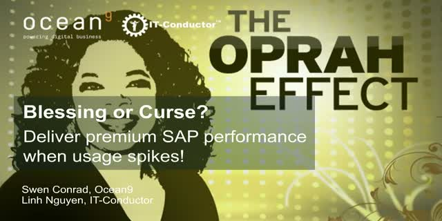 """Oprah Effect"": Blessing or Curse? - Premium SAP performance when usage spikes!"