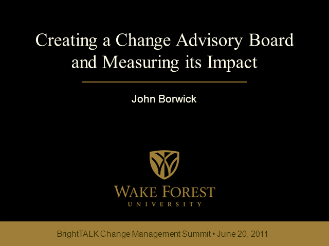 Creating a Change Advisory Board & Measuring its Impact