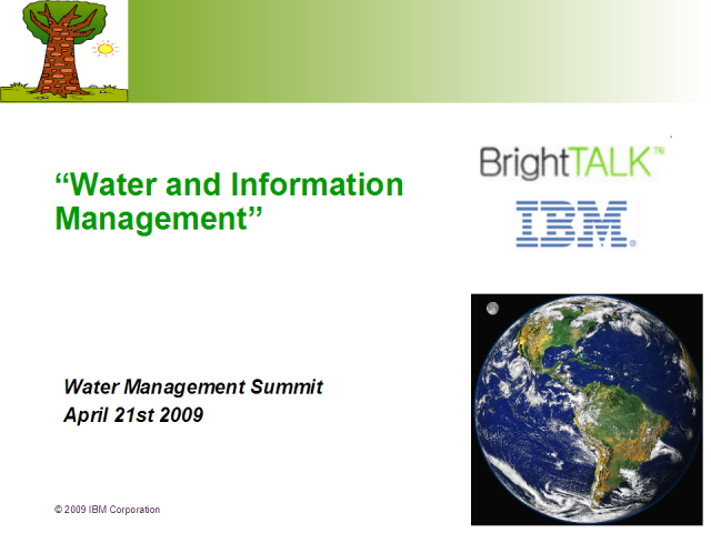 Water and Information Management