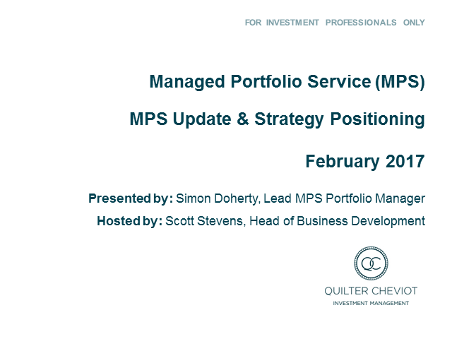 Quilter Cheviot MPS Q4 2016 review & 2017 positioning