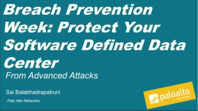[Breach Prevention] Protect Software-Defined Data Center From Advanced Attacks
