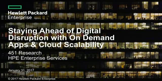Staying Ahead of Digital Disruption with On-Demand Apps & Cloud Scalability