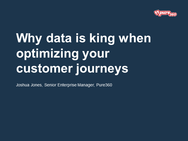 Why data is king when optimising your customer journeys