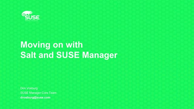 Moving on with Salt and SUSE Manager