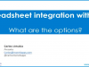 Spreadsheet Integration with Oracle EBS. What are the Options?