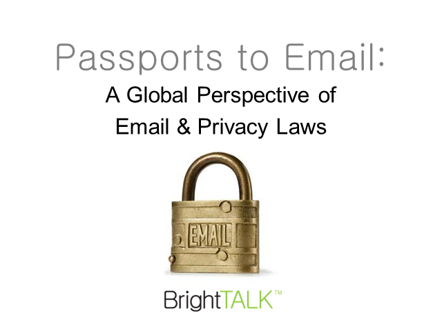 Passports to Email: A Global Perspective of Email & Privacy Laws