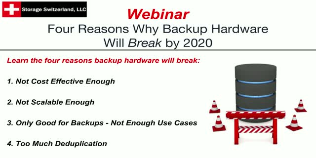 Four Reasons Why Your Backup & Recovery Hardware will Break by 2020